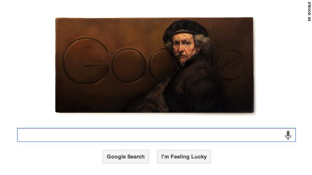 Google pinta un 'doodle' en homenaje a Rembrandt