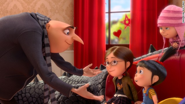"""Despicable Me 2,"" featuring the voice of Steve Carell, had an outstanding summer, making $351 million domestically and $455 million overseas. It had a Rotten Tomatoes score of 76%."