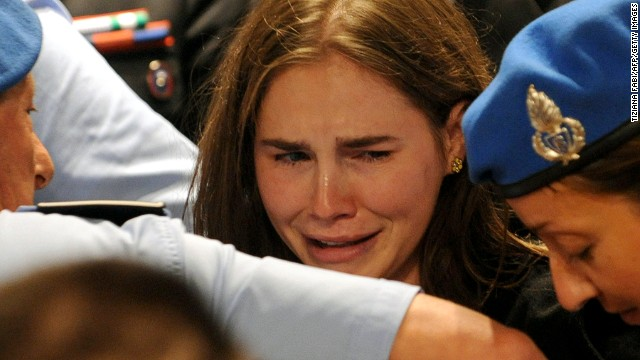<a href='http://www.cnn.com/2011/10/03/world/europe/italy-knox-appeal/index.html'>Amanda Knox</a> reacts to the announcement of her acquittal in 2011. She had been serving a 26-year sentence after being convicted in 2009 of murdering fellow student Meredith Kercher. In 2013, Italy's Supreme Court ruled that Knox should stand trial in the case again. That retrial has begun, though Knox is not there: She decided to stay in the United States.