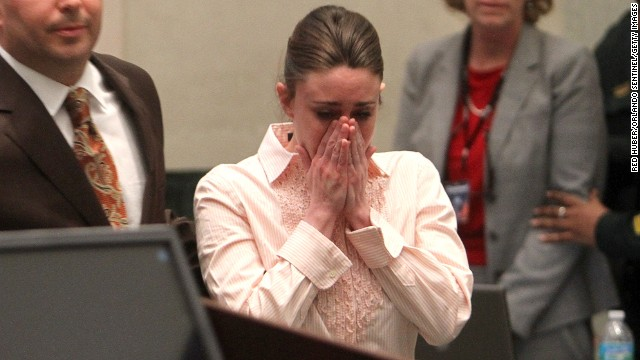 <a href='http://www.cnn.com/2011/CRIME/07/05/florida.casey.anthony.trial/index.html'>Casey Anthony</a> covers her face in an Orange County, Florida, courtroom in 2011 after hearing she was not guilty of first-degree murder, aggravated child abuse and aggravated manslaughter in the death of her 2-year-old daughter.