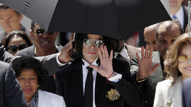 <a href='http://www.cnn.com/2005/LAW/06/13/jackson.trial/index.html'>Michael Jackson</a>, flanked by family members, waves after his 2005 acquittal on child molestation charges in Santa Maria, California. If convicted, the late pop icon would have faced nearly 20 years in prison. Jackson died in June 2009 while getting ready for a new tour.