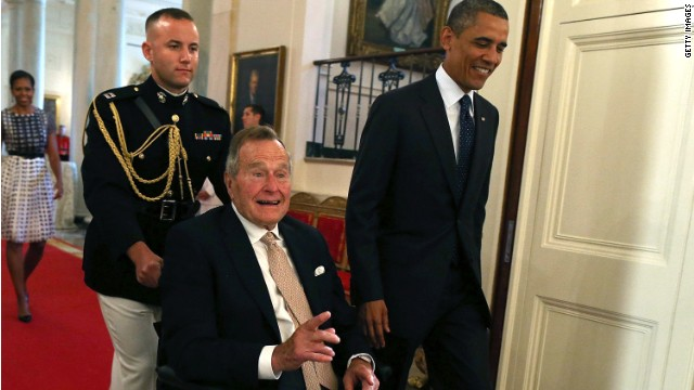 Obama to Bush 41: We are a 'gentler nation' because of you