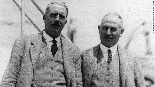 Vardon was born and raised in Jersey, a British outpost off the coast of Northern France, and was friends with Ted Ray (right), seven years his junior, who was also from the island and won two major championships, including the British Open, during his career.