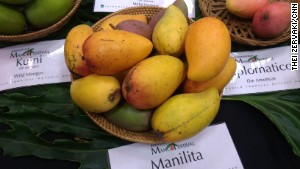 The Manilita -- a fiber-less, sweet mango and a common favorite.