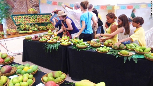 International Mango Festival, Miami -- where people double their annual mango consumption in one sickly afternoon.