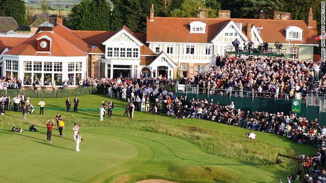 Vardon's first Open triumph was at Muirfield, the setting for this year's championship. South Africa's Ernie Els (red shirt) won the last time it was held at the course, in 2002, and he is defending champion after winning at Royal Lytham & St Annes in England.