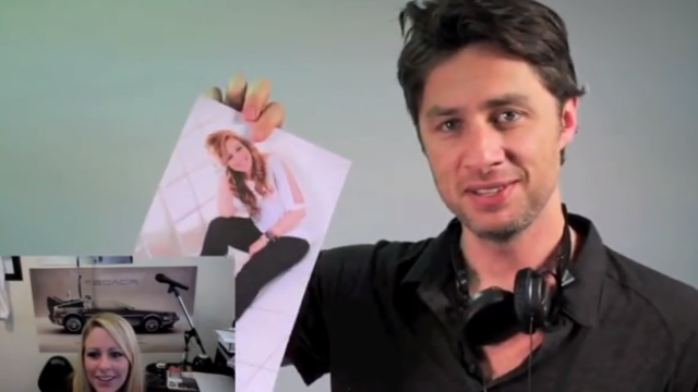 Actor Zach Braff helps with a marriage proposal.