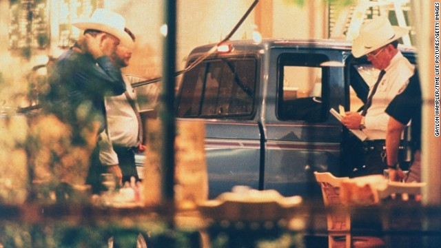George Hennard crashed his pickup through the plate glass window of Luby's Cafeteria in Killeen, Texas, on October 16, 1991, before fatally shooting 23 people and committing suicide.