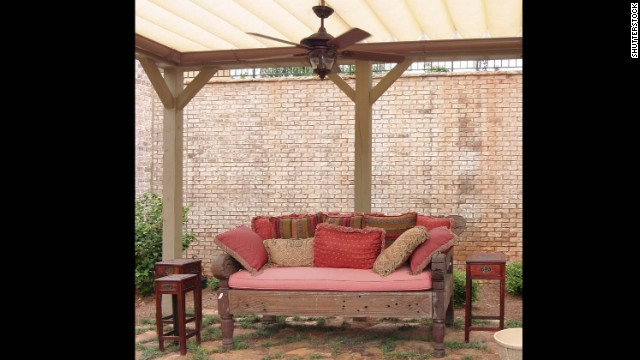 Mosquitoes aren't strong flyers, the <a href='http://www.mosquito.org/faq' target='_blank'>American Mosquito Control Association</a> says, so having a fan on when you're relaxing on your deck or patio could prevent them from landing on their target... a.k.a. you.
