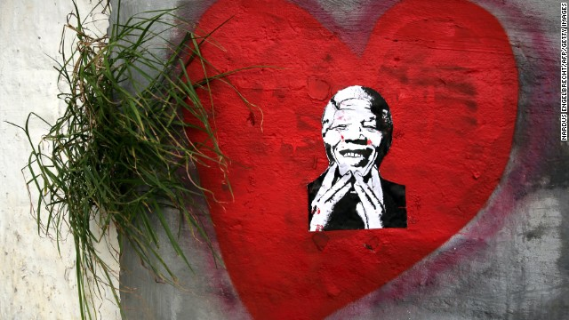 SOUTH AFRICA: Street art expressing love for Mandela is found in Cape Town.