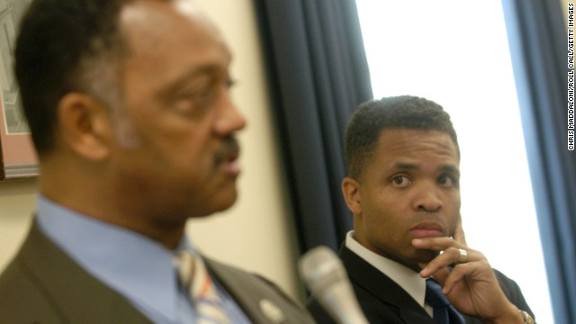 Former Rep. Jesse Jackson Jr. is the son of longtime civil rights activist the Rev. Jesse Jackson, who sought the Democratic nomination for president in 1984 and 1988.