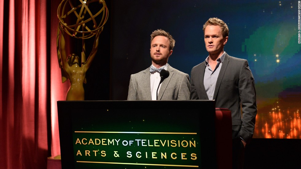 The nominees for the 65th Primetime Emmy Awards were announced by Aaron Paul and Neil Patrick Harris on Thursday, July 18. And the nominees are ...