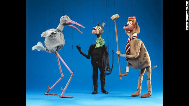 The museum says that the Paul McPharlin Puppetry Collection is considered one of the most significant collections of historical puppets in the United States. Joe Stork, Krazy Kat and Bill Postum are three more of McPharlin's creations.