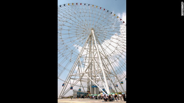 The Star of Nanchang is an eyeful to visitors. The massive Ferris wheel has 60 capsules that fit six passengers each, and it offers incomparable views of the inland city that is set between Hong Kong to the south and Beijing to the north.<!-- --> </br>