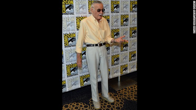"Comic book icon Stan Lee attends his ""World of Heroes"" YouTube channel panel at the Hilton San Diego Bayfront Hotel on Friday, July 19. Lee's ""World of Heroes"" is a channel for all things related to the hero lifestyle and enthusiast culture according to the ""World of Heroes"" YouTube channel."