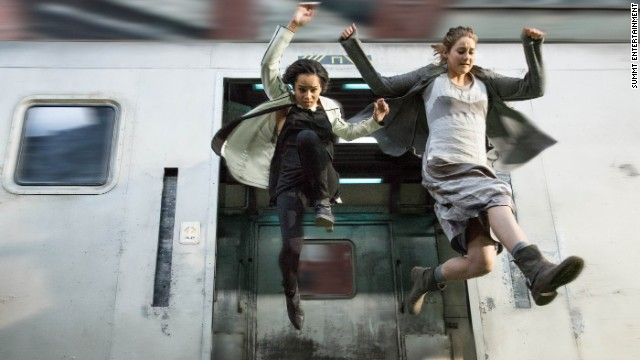 "An adaptation of Veronica Roth's bestselling first novel in her ""Divergent"" trilogy landed in theaters in March 2014, starring Shailene Woodley as protagonist Tris Prior and Zoe Kravitz as Christina."