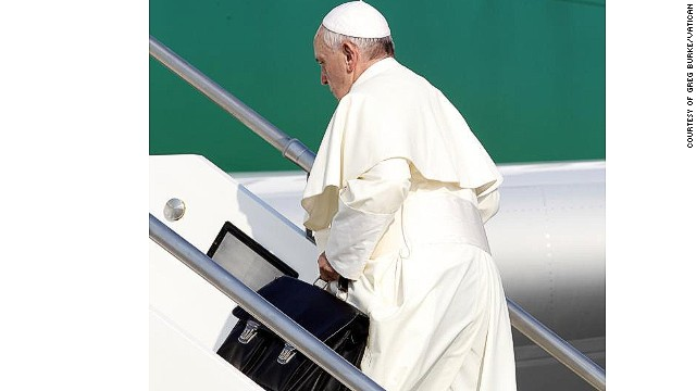 Pope Francis embarks on historic trip to Brazil, where protesters await