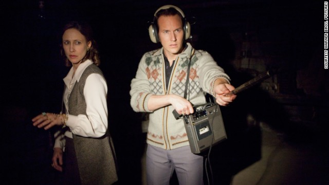 Vera Farmiga stars as Lorraine Warren and Patrick Wilson stars as Ed Warren in