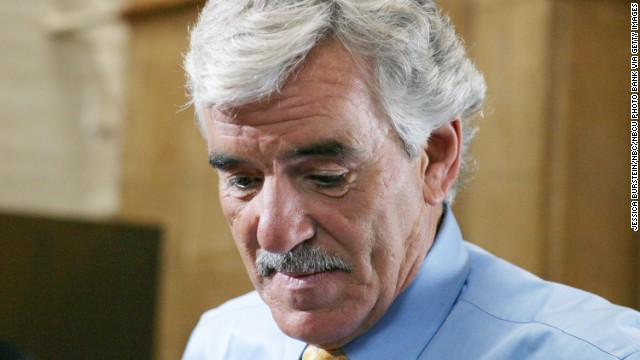 "Dennis Farina has died, his representative said Monday, July 22. He was 69. Above, Farina shoots a scene as Detective Joe Fontana in ""Law & Order"" in 2004."