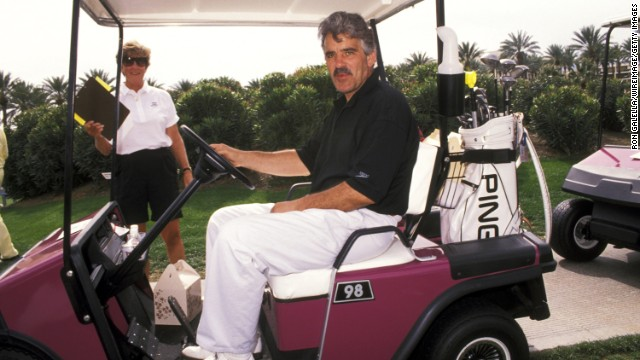 Farina attends the 4th annual Sinatra Golf Invitational in Palm Springs, California, in February 1992.