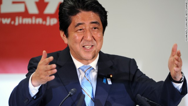 Japanese PM Shinzo Abe addresses the media on July 22 after his party's success in Upper House elections.