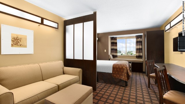 "Microtel Inns & Suites took the top spot in the ""economy/budget"" category. A suite at the Columbia, South Carolina location is shown here."
