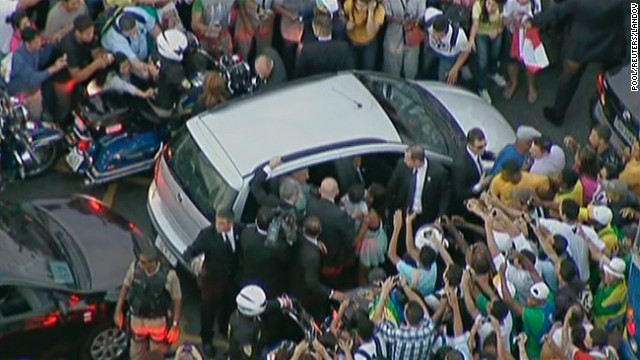 Security raised to`high risk' for pope in Brazil