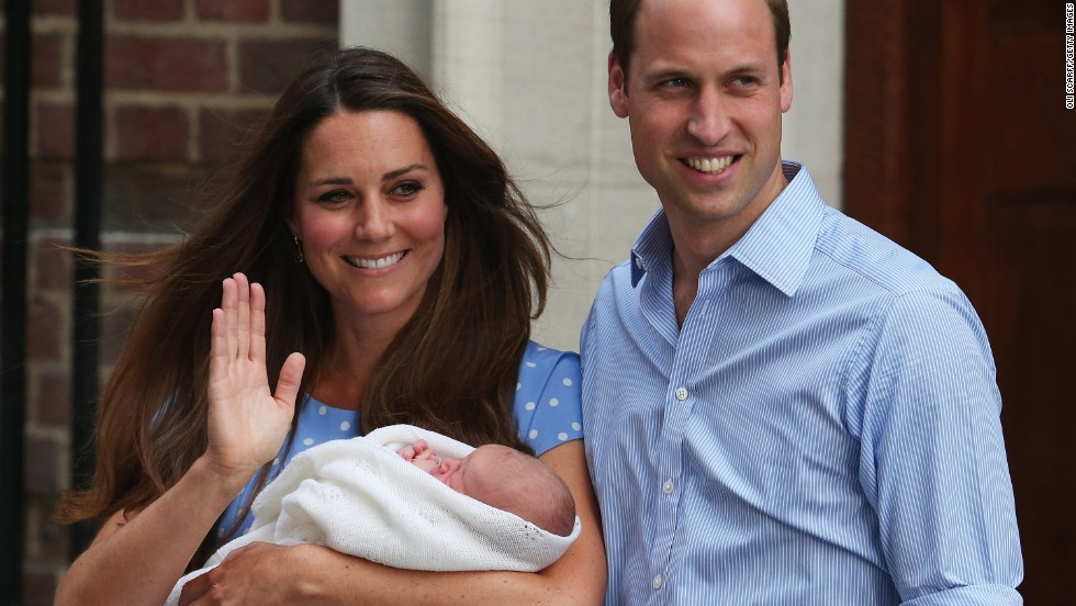 Prince William, Duke of Cambridge, and Catherine, Duchess of Cambridge, depart the Lindo Wing of St. Mary's Hospital in London with their newborn son on Tuesday, July 23. Take a look at the House of Windsor's family tree: