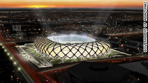 The Amazon's World Cup stadium race