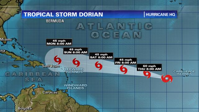 Se forma la tormenta tropical Dorian sobre el este del Atlántico