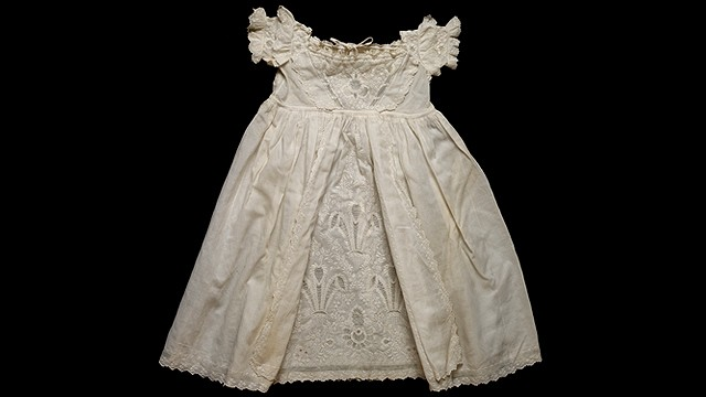 This cream robe was worn by Prince Albert Edward, later King Edward VII.