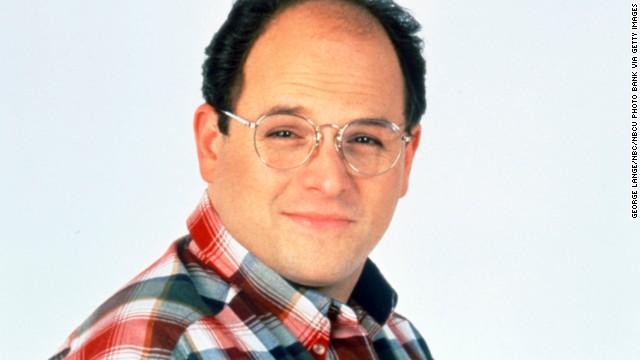 "George Costanza: The long-suffering best friend of Jerry Seinfeld on NBC's ""Seinfeld,"" portrayed by actor Jason Alexander."