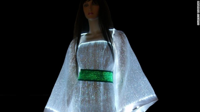 Glow in the dark with the <a href='http://www.lumigram.com/catalog/product_info.php?products_id=112' target='_blank'>LumiDress.</a> Made up of ultra-thin optical fibers woven together with other synthetic fiber this dress will light up the night.