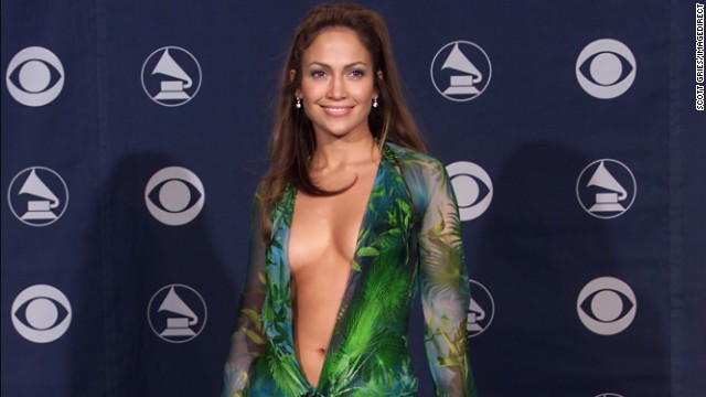 Lopez also put a great deal of energy into her music career, which was upstaged in 2000 by this outfit at the 42nd Annual Grammy Awards at the Staples Center in Los Angeles.