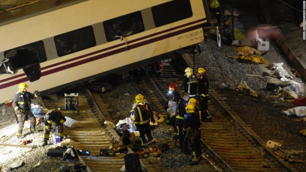 Descarrilamiento de tren en España
