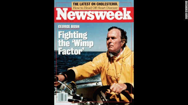 "In 1987, Newsweek caused a stir when it ran a cover of Vice President George H.W. Bush titled ""Fighting the 'Wimp Factor."" It was a year before the election that would promote Bush to the presidency, at a time when the country was debating his qualifications. The magazine reprised the ""Wimp Factor"" phrase in 2012, this time referring to GOP presidential nominee Mitt Romney."