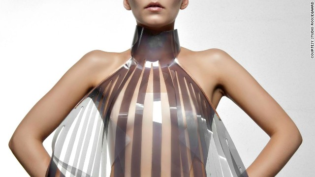 "The dress that turns transparent when the wearer is aroused. Would you try it? Dutch design collective <a href='http://www.studioroosegaarde.net/info/' target='_blank'>Studio Roosegaarde</a> have developed a sensual dress called Intimacy 2.0 together with designer <a href='http://v2.nl/' target='_blank'>Anouk Wipprecht</a>. Made of leather and smart e-foils, it 'explores the relationship between technology and intimacy'. The high-tech panels are stimulated by the heartbeat of the wearer. Initially opaque or white, they become increasingly transparent when exposed to an electric current — in this case a beating heart. "" border=""0″ height=""360″ id=""articleGalleryPhoto001″ style=""margin:0 auto;"" width=""640″/><cite style="