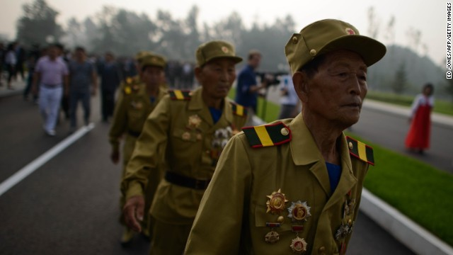 North Korea's Kim Jong Un honors country's war veterans