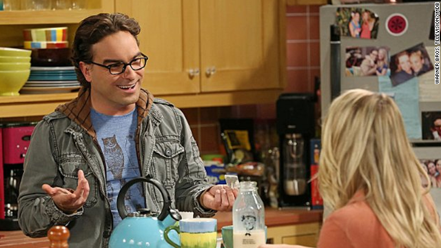 """Roseanne"" alum Johnny Galecki stars as Leonard Hofstadter, Sheldon's long-suffering roommate and, as of the season 7 finale, the future husband of Penny (Kaley Cuoco). He is a physicist. As far as his new engagement to Penny, <a href='http://www.tvguide.com/News/Big-Bang-Theory-Season8-Premiere-1087327.aspx' target='_blank'>executive producer Steve Molaro has warned</a> that fans shouldn't expect to see a wedding any time soon."