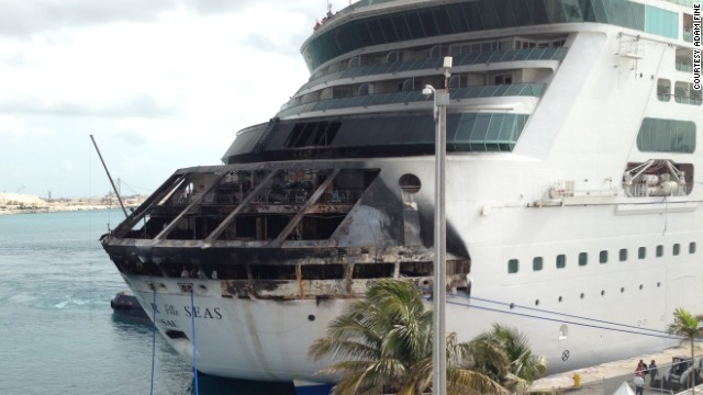 On Memorial Day last year, a fire aboard Royal Caribbean's Grandeur of the Seas cut short a seven-day cruise to Port Canaveral, Florida, and the Bahamas. The ship changed its course and sailed under its own power to Freeport in the Bahamas.