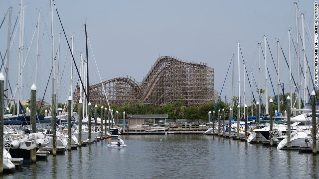 Kemah Boardwalk is just 20 miles from downtown Houston, on Texas's Gulf Coast.
