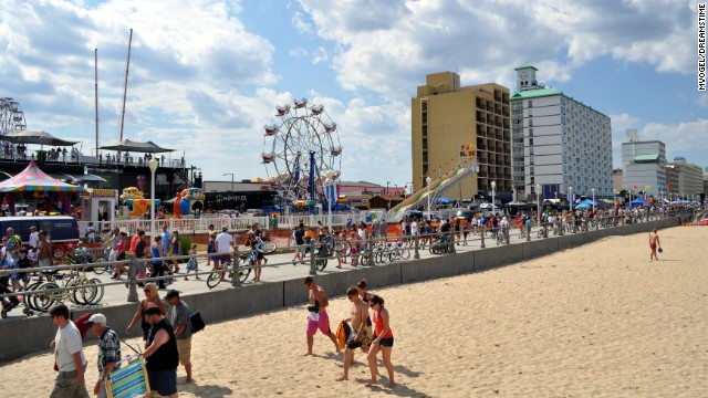 The Virginia Beach Boardwalk is a popular Fourth of July weekend getaway.