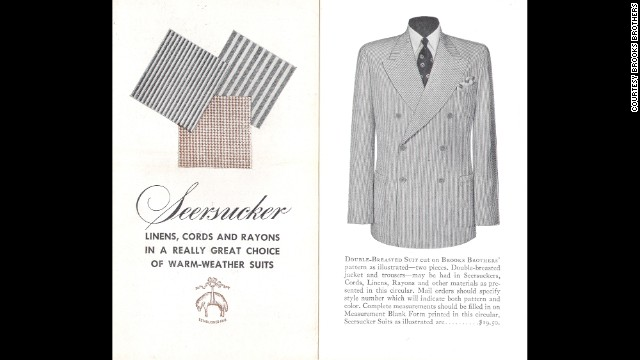 A vintage Brooks Brothers ad for their seersucker suit.