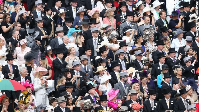 Goodwood, like Ascot and many other British sporting events, is a chance to see and be seen. The Royal Enclosure at Royal Ascot has a strict dress code so morning dress for men and women wearing fashionable hats abound.