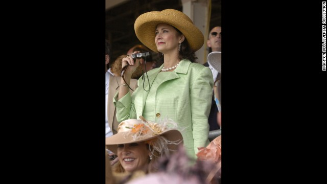"Actor Lynda Carter wore seersucker to the 2004 Kentucky Derby. Many people say the Kentucky Derby is the official start of ""seersucker season."""