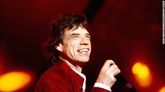 Mick Jagger takes the stage in Holland in 1995.