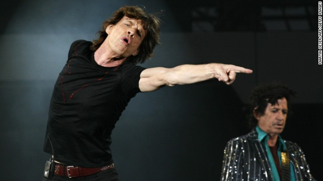 Mick Jagger and Keith Richards perform in Frankfurt, Germany, in 2007.