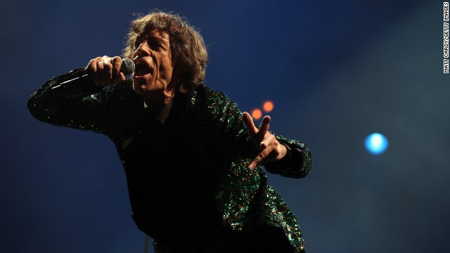 Mick Jagger takes center stage at the Glastonbury Festival in England on June 29, 2013. It was the Rolling Stones' first appearance at the event. Showing no signs of slowing down, Jagger thanked fans for following the band through the years.