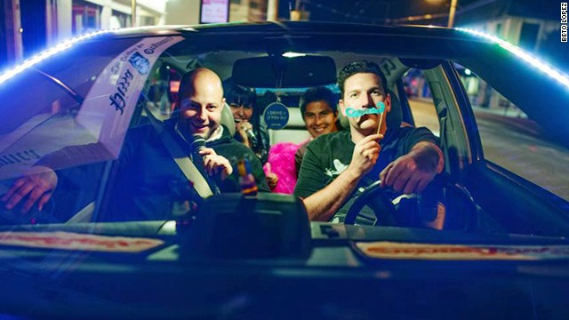 The popular Disco Lyft has LED lights, a fog machine and karaoke.