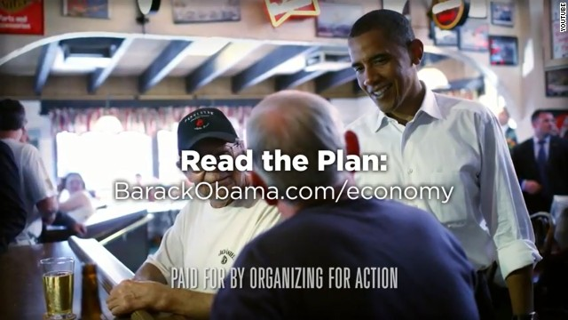 Obama group backs economic speech with ad
